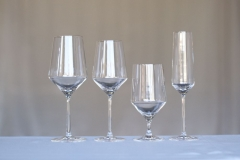 <h5>Pure </h5><p>18 oz Wine Glass,13.5 WIne Glass, 15.5 oz Water Goblet, 7 oz Flute </p>