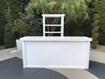 <h5>8' White Hi Gloss Bar w: Back Bar</h5>