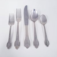 <h5>Falmouth</h5><p>Dinner Fork, Salad/Cake Fork, Dinner Knife, Table spoon, Tea spoon, (Butter spreader Also available)</p>