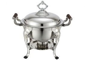 <h5>4-Qt. Deluxe Round Stainless Chafer</h5>