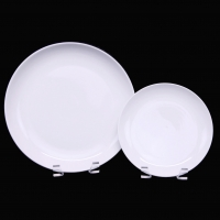 "<h5>White Coupe China</h5><p>10"" Dinner, 7"" Salad, (6"" B&B Also available) </p>"