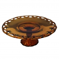 "<h5>14"" Amber Lattice Cake Stand  </h5><p>Also Available in white </p>"