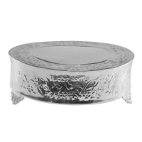 "<h5>22"" Silver Round Cake Stand</h5><p> Also Available in Gold</p>"