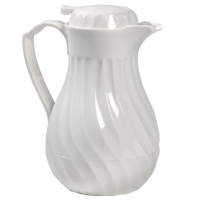 <h5>White Swirl Coffee Pot </h5>