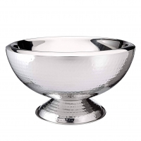 <h5>3Gal Hummered Stainless Punch Bowl</h5>