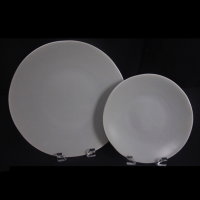 "<h5>Heirloom Matte Grey Plates</h5><p>10"" Dinner Plate, 7"" Salad/Dessert (6"" B&B Also Available) </p>"