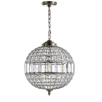 "<h5>16"" Crystal Globe Pendant Chandelier</h5><p>Also available in 12""</p>"