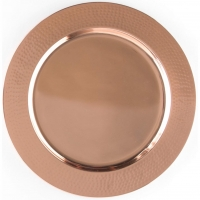 "<h5>12""Hammered Copper Charger</h5>"