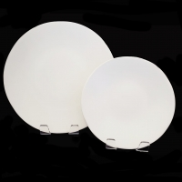 "<h5>Heirloom Matte White Plates</h5><p>10.75"" Dinner Plate, 8"" Salad Plate (6"" B&B Also available) </p>"